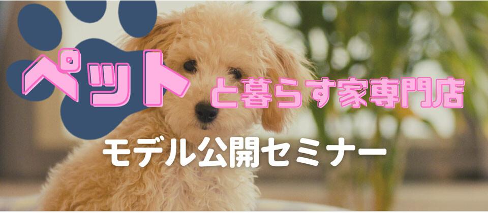 【webセミナー】ペットと暮らす家専門店モデル公開セミナー