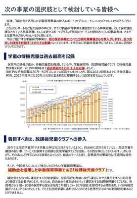 【改訂版】補助金を活用した学童保育事業の展開