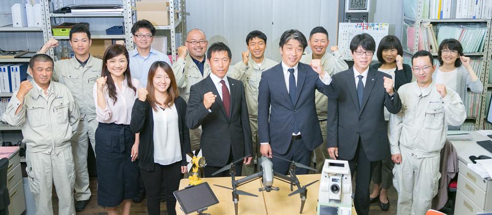 ワンマン測量×分業制で生産性2倍の高生産性事務所